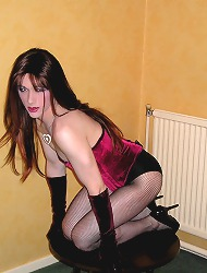 Slutty kirsty wearing fishnet..