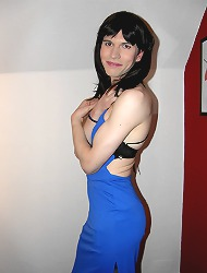 Crossdresser wearing a sultry..